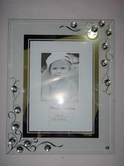 Продам рамочки для фотографий из стекла 10х15,  с бижутерией.