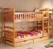 Двухэтажная кровать из натурального дерева от изготовителя