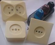 Производим:-электропатроны Е-27, -электротройники, -розетки, -вилки