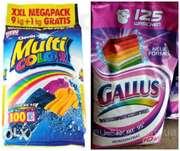 Дешево германский стиральный порошок Gallus,  MultiCOLOR, Original Plus,