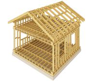 Строим,  деревянный дом,  двутавровая балка,  клееный брус,  фальш-брус